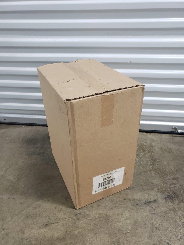 Box of 12x Purolator 16x20x1 1 MTL M2 Fiberglass Disposable Panel Furnace Air Filters 16W x 20H x 2D