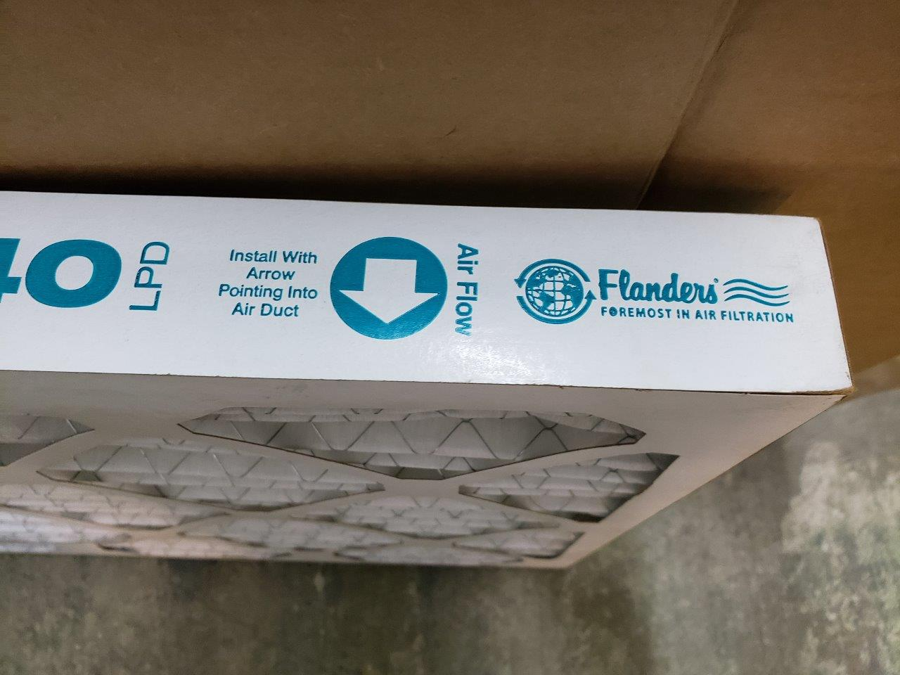 16x20x2 Furnace Air Filter Flanders MERV 8 Prepleat 40 LPD AC