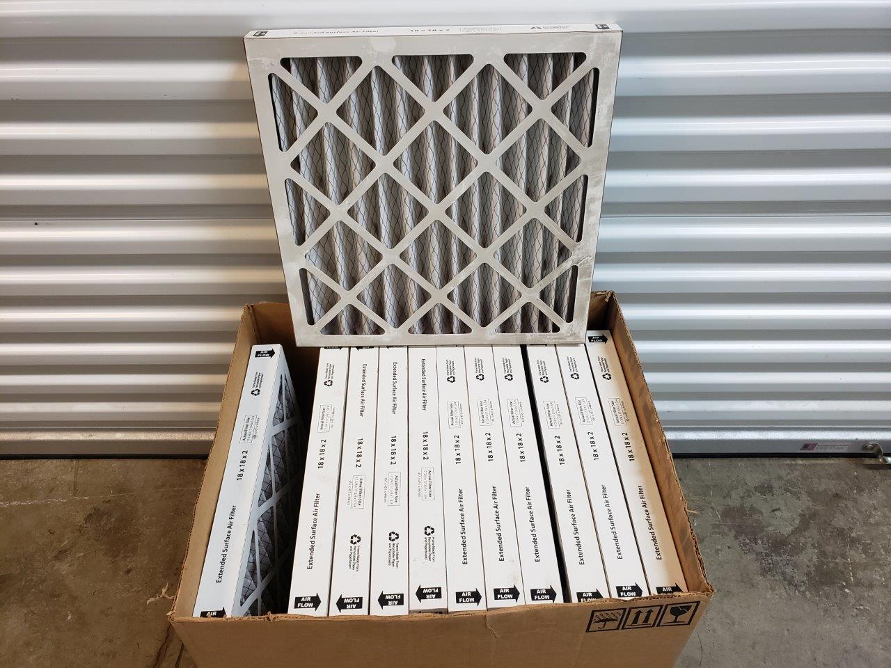 18x18x2 air filter, Purolator Hi 40 Extended Surface Pleated Air Filter MERV 8 (1 item)