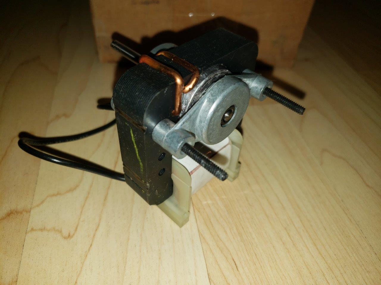 1/150 HP, 120 Volts, 3000 RPM, Fasco K670 C-Frame Motor, 1 Speed, 0.61 Amps, For Vent Fan OAO Enclosure, CCWSE Rotation, Sleeve Bearing