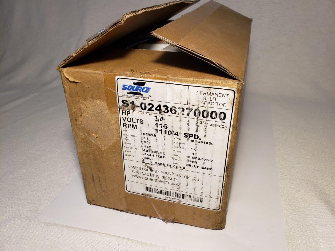 3/4 HP Furnace Blower Motor OEM York Coleman Luxaire Condenser Fan S1-02436270000