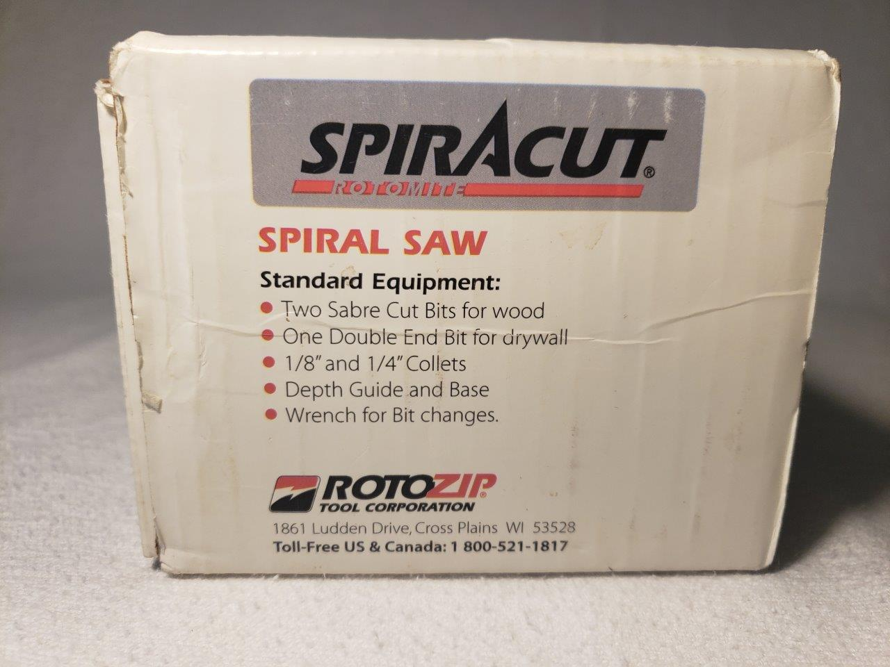 Rotozip RTM01 type 2 Spiracut Rotary RotoSaw Spiral Saw Tool Kit Rotomite