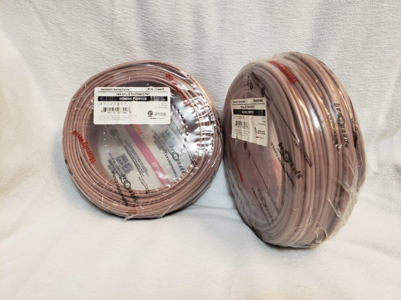 Thermostat wire cable 250ft 18/4 250 ft feet foot Honeywell Genesis 47140907