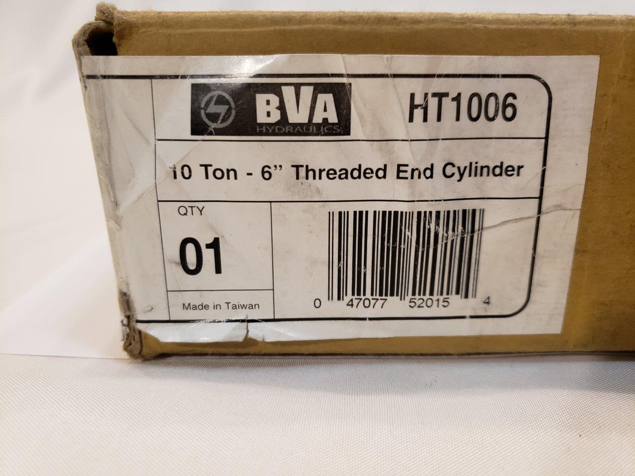 HT1006 10 Ton 6 inch Stroke Single Acting Threaded Cylinder BVA Hydraulics