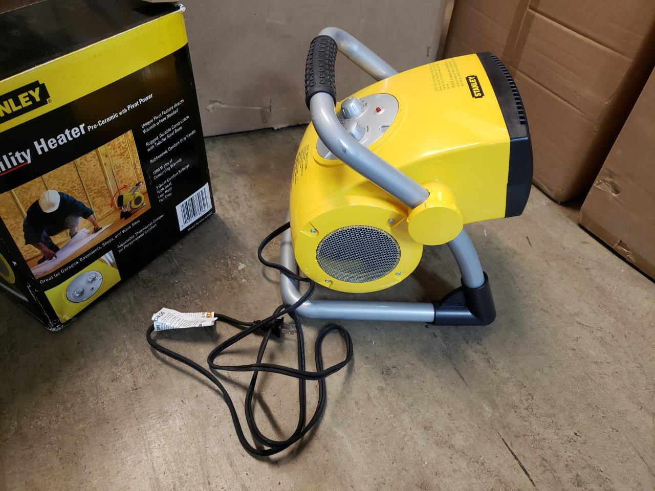 Stanley 1500-Watt Utility Ceramic Portable Heater with Pivot Power