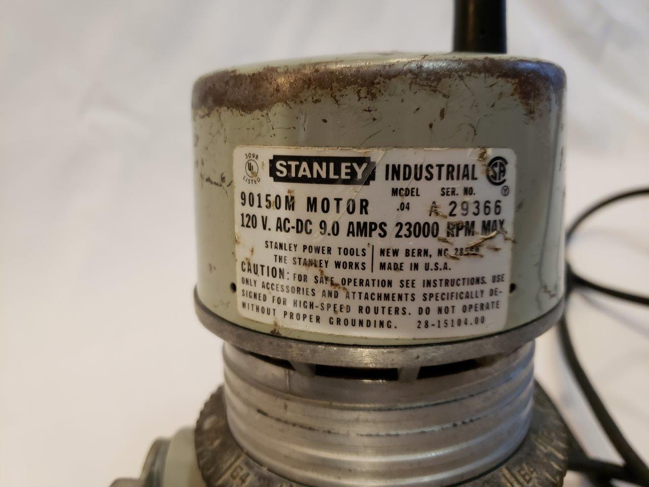 Stanley Router Model .04 Motor 90150M Base 82902, extra base, Plate router templates, toolbox