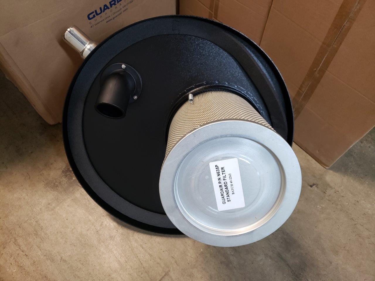 Guardair Pneumatic Vacuum Generating Head N552BK for Top of 55 Gallon Drum, Dual B Venturi, 2 inch Inlet and Attachment Kit like nortech tornado