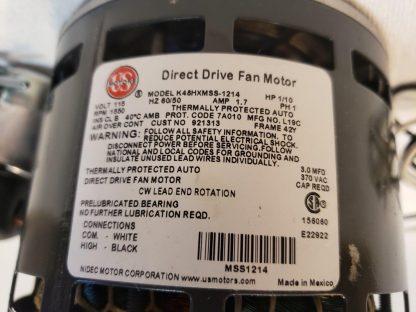 1550 RPM 1/10 HP CCWSE K48HXMSS-1214 ACME Motor fan exchaust US Motors OEM 23TF89 Fasco direct drive motor replacement