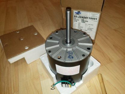 1/2 HP 1090 RPM 1 Speed, CW, 230V, OEM York Coleman Luxaire Condenser Fan Motor S1-02424110001 024-24110-001 F48L10A50