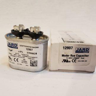 JARD 7.5 MFD x 370 VAC 50/60Hz -40°C to 70°C Motor Run Capacitor Shape Oval 12907