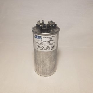 45 + 5 MFD x 370 or 440 VAC Round Motor Dual Run Capacitor JARD 12788 50/60Hz -40°C to 70°C
