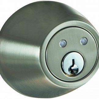 Radio Frequency Remote Deadbolt, Satin Nickel