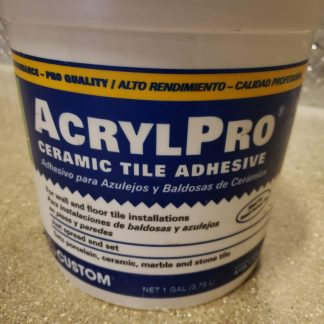 ARL40001-2 Acrylpro Gallon White Ceramic Tile Mastic Adhesive glue Custom Building Products