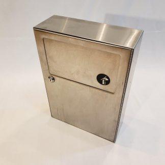 Surface Wall Mount Trash Waste Bin Bobrick B-254 SS Stainless Steel Sanitary Napkin Disposal Receptacle Restroom